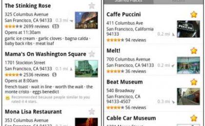 Google Maps per Android si aggiorna ancora e punta su Luoghi e Latitude