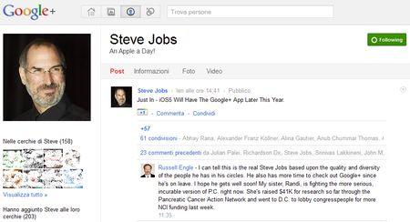 Tra i tanti iscritti a Google+ ecco Steve Jobs e Mark Zuckerberg!