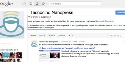 Google+ sospende alcuni profili per evitare il furto d'identità?