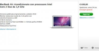 I Macbook Air ricondizionati accolgono Lion e si offrono a buon prezzo