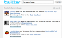 La morte di Amy Winehouse scuote Twitter e Facebook