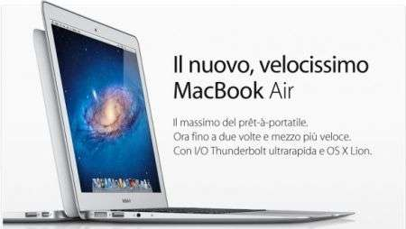 Le novità Apple di oggi da Macbook Air al ruggente Lion!