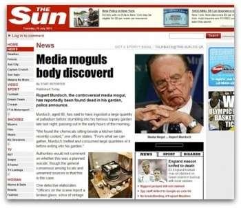 Gli hacker di LulzSec attaccano il Sun annunciando la morte di Murdoch
