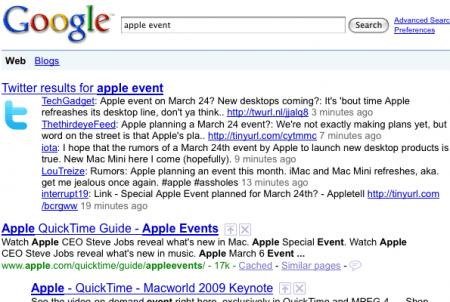 Google abbandona Twitter e la ricerca in tempo reale