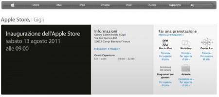 Apple Store I Gigli a Firenze apre sabato, con la nuova area Setup
