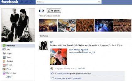 """La spaventosa crescita di Facebook premia anche Bono Vox, il """"lungimirante"""""""