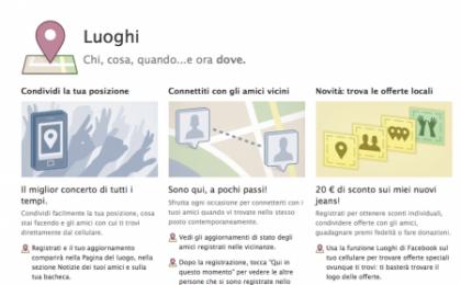 Facebook Luoghi (Places) verso il viale del tramonto