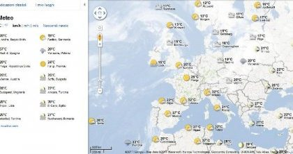 Google Maps ora anche con meteo e previsioni del tempo!