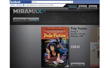 Film a noleggio su Facebook? Sì, con Miramax eXperience