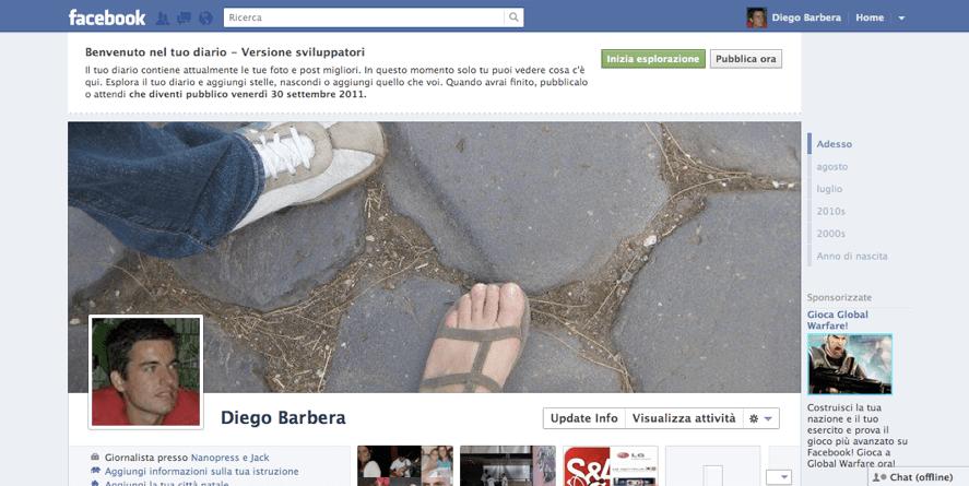 Ecco il nuovo profilo Facebook Timeline, scopri come avere il diario del social network