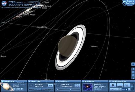 nasa solar system web app