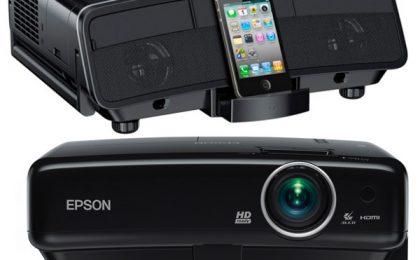 I proiettori Epson con dock iPhone e iPad incorporato!
