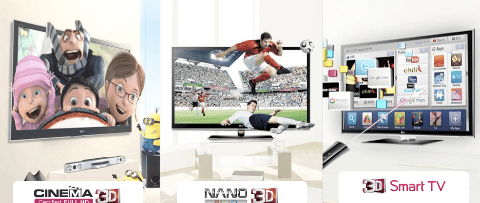 smart tv cinema 3d lg