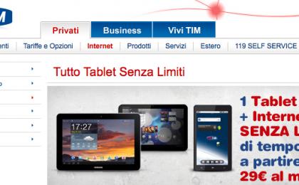 iPad 2 con Tim: i prezzi in abbonamento con Tutto Tablet