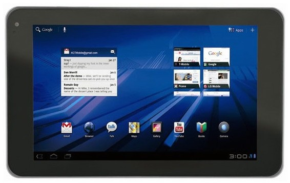 LG Optimus Pad schermo 3d