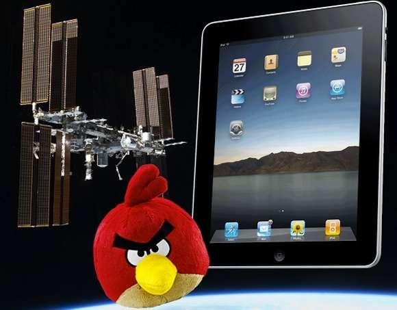 Angry Birds nello spazio a bordo di iPad