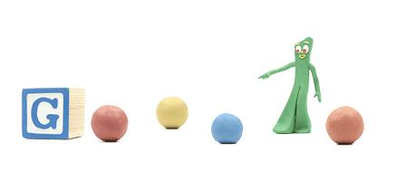 Google Doodle per Art Clokey e i personaggi di plastilina