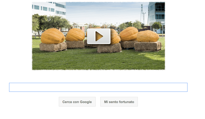 Google Doodle per Halloween con un logo video