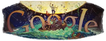 Google Doodle per Italo Calvino, con le Cosmicomiche
