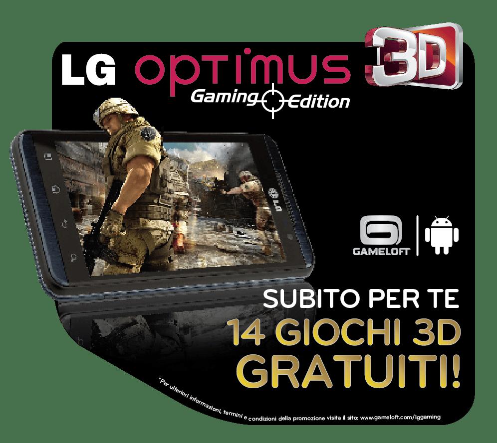 LG Optimus 3D Gaming Edition con 14 giochi 3D da scaricare gratis!