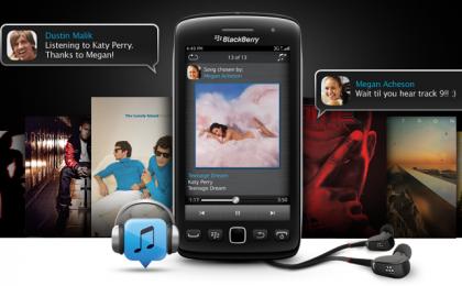 BBM Music in Italia: Blackberry punta su musica e social