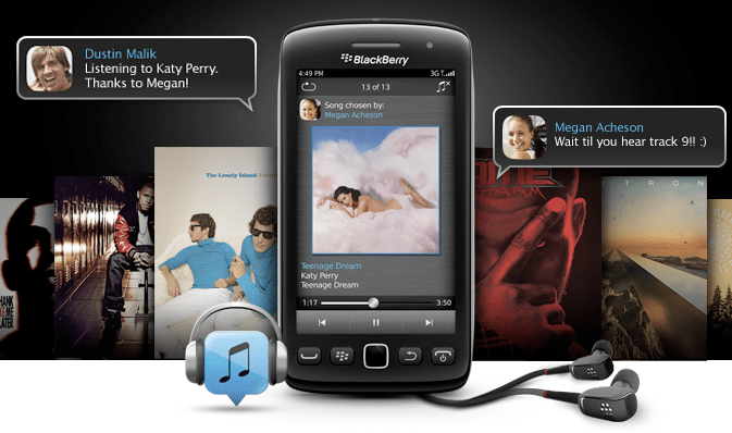 BBM Music in Italia: Blackberry punta su musica e social