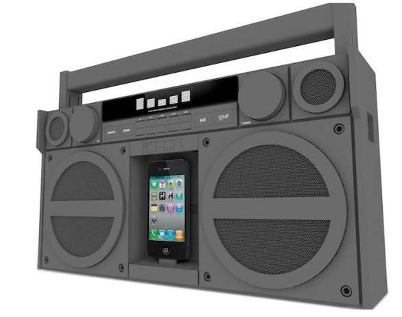 Il dock iPhone iHome iP4 stile stereo del ghetto