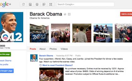 Google+: la pagina di Barack Obama termometro del flop