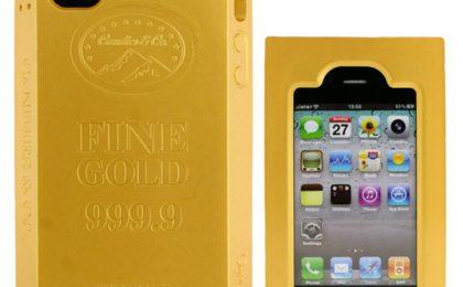 La custodia di iPhone a lingotto d'oro (finto)