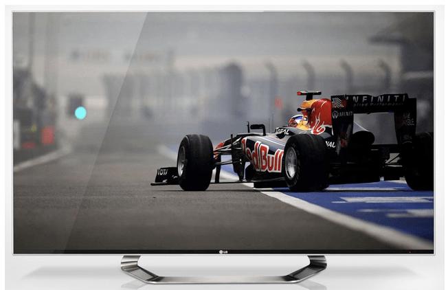 Il TV Cinema 3D di LG tutto-schermo, che elimina la cornice