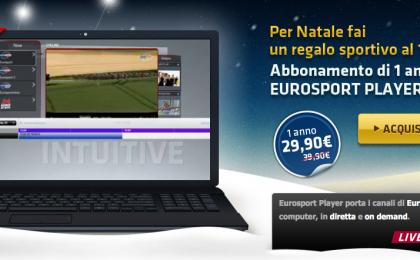 Regali Natale economici: un anno di sport con Eurosport Player