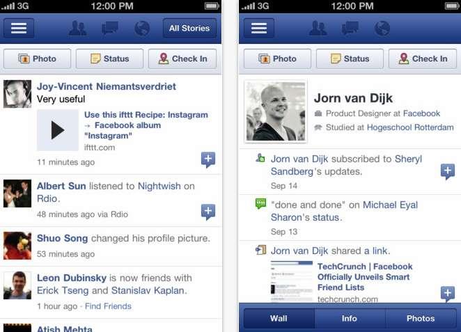 Facebook per iPhone apre subito al Diario
