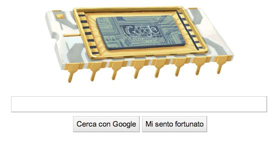 Il microchip di Robert Noyce festeggiato nel Google Doodle