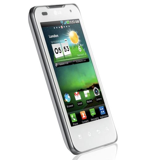 LG Optimus Dual si veste di bianco per Natale