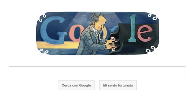 Google Doodle per Nino Rota, compositore premio Oscar
