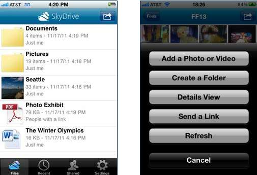 L'ottimo SkyDrive debutta su iPhone e Windows Phone