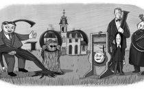 Google Doodle imperdibile per il centenario di Charles Addams