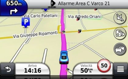 La mappa dell'Area C di Milano in regalo per i navigatori Garmin
