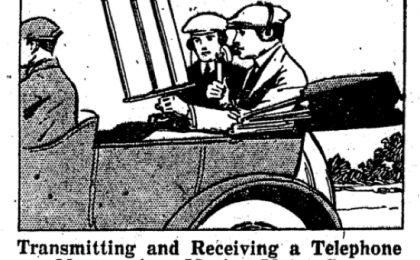Il primo telefono senza fili per l'auto? Nel 1920