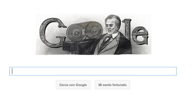 Google Doodle per Federico Fellini in ricordo del suo compleanno