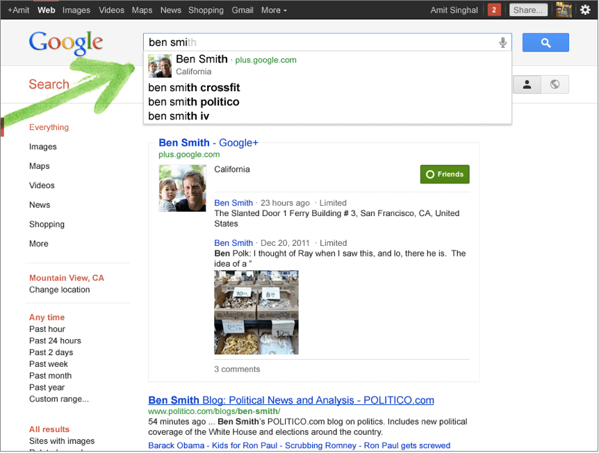 google plus persone ricerca