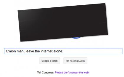 SOPA: la protesta soft di Google, con un'infografica