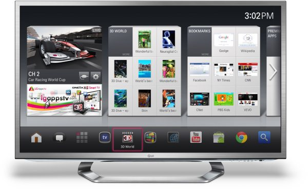 LG presenta la sua Google TV con 3D e Magic Motion