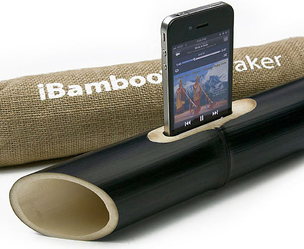 ibamboo iphone passive speaker acoustic