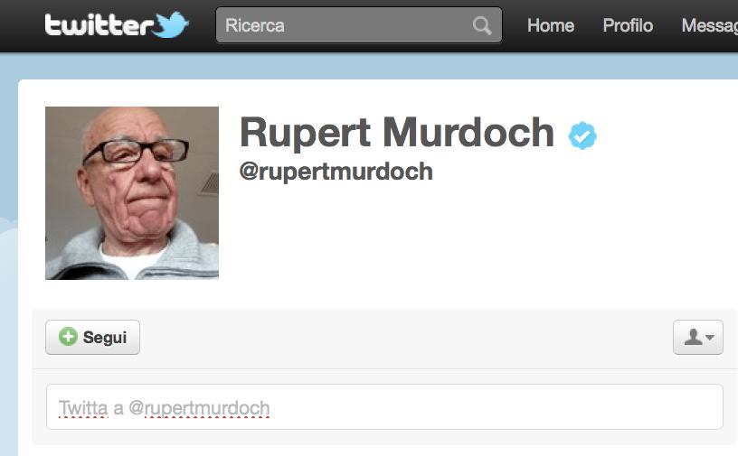 rupert murdoch profilo twitter