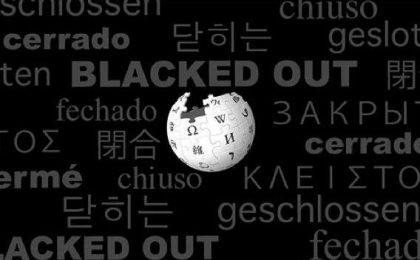 Wikipedia inglese sciopera contro la legge anti pirateria USA