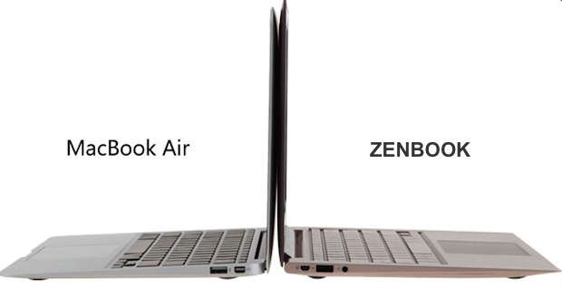 apple macbook air vs asustek zenbook
