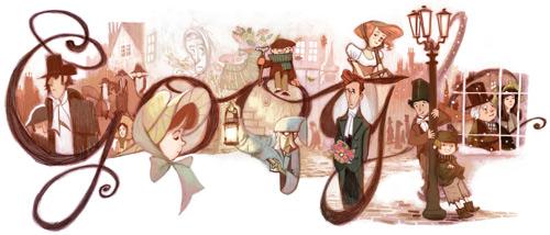 Google Doodle per i duecento anni di Charles Dickens