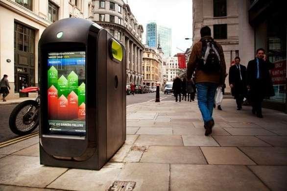 Olimpiadi Londra 2012: le pattumiere con Wi-Fi e LCD