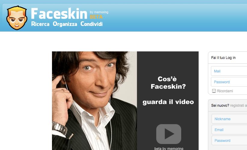 Faceskin, cos'è e come funziona il social network di Claudio Cecchetto